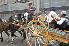 Traditional Sicilian Carriage Stock Photography