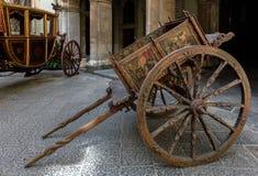 Traditional Sicilian cart in Catania, Sicily, Italy Royalty Free Stock Photos