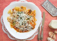 Traditional Sicilian dish: pasta alla Norma Stock Photos