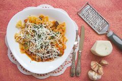 Traditional Sicilian dish: pasta alla Norma Royalty Free Stock Images