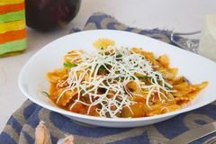 Traditional Sicilian dish: pasta alla Norma Royalty Free Stock Photography