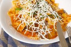 Traditional Sicilian dish: pasta alla Norma Stock Image
