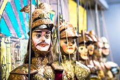 Traditional Sicilian puppets Royalty Free Stock Image