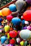 Traditional Silk Lanterns Royalty Free Stock Photos