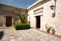 TRADITIONAL SILLAR HOUSE OF AREQUIPA, PERU stock image
