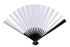Traditional silver folding fan Royalty Free Stock Photos