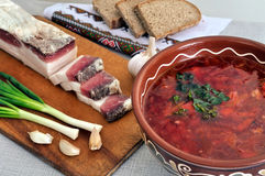Traditional simple ukrainian food Stock Photography