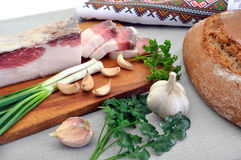 Traditional simple ukrainian food Royalty Free Stock Photography