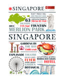 Traditional singapore paragraph design. Travel traditional singapore paragraph design template message information culture aec area Stock Photography