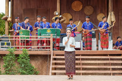 Traditional singer at Annual Lumpini Cultural Festival Royalty Free Stock Images