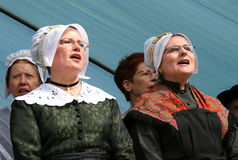 Traditional singing and dancing in correze Stock Image