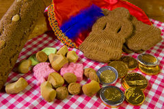 Traditional Sinterklaas candy Stock Photos