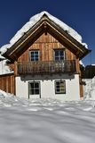 Traditional Ski Hut in Austria Royalty Free Stock Photography
