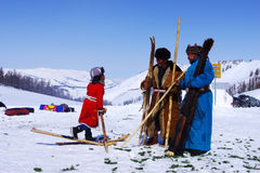 Traditional skiing  festival Stock Photos