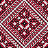 Traditional Slavic black and red stitch. Royalty Free Stock Photo