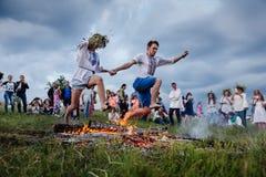 Traditional Slavic celebrations of Ivana Kupala Stock Photo