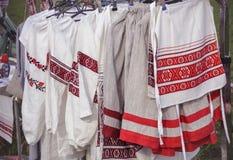 Traditional Slavic clothes Stock Photo