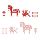Traditional slavic embroidery patterns Royalty Free Stock Photos