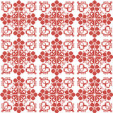 Traditional Slavic ornament for embroidery. In red Royalty Free Stock Photos