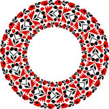Traditional Slavic Round Embroidered Pattern Stock Photos