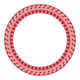 Traditional Slavic Round Embroidery Royalty Free Stock Images