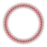 Traditional Slavic round embroidery Stock Image