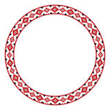 Traditional Slavic round embroidery Royalty Free Stock Photography