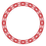 Traditional Slavic round embroidery Stock Photos