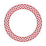 Traditional Slavic round embroidery Stock Photo