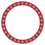 Traditional Slavic round embroidery Royalty Free Stock Photos