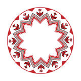 Traditional Slavic round embroidery Royalty Free Stock Image