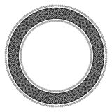 Traditional Slavic round embroidery. Vector illustration of traditional Slavic round embroidered pattern for your design royalty free illustration