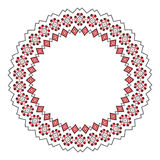 Traditional Slavic round embroidery Stock Photography