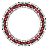 Traditional Slavic round embroidery. Vector illustration of traditional Slavic round embroidered pattern for your design stock illustration