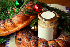 Traditional slavic russian christmas table Royalty Free Stock Image