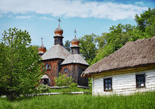 Traditional Slavonic village Stock Photography