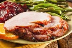 Traditional Sliced Honey Glazed Ham Stock Image