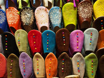 Traditional slippers in souk Royalty Free Stock Photos
