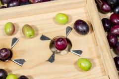 Traditional slitter for preparing seasoned slit olives Stock Photo