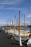 Traditional sloops in Karlskrona marina Stock Photography