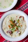 Traditional Slovak food-halušky Stock Image