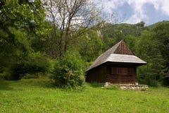Traditional Slovakian Timber House Stock Image
