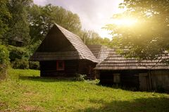 Traditional Slovakian Timber Houses Royalty Free Stock Photo