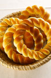Traditional slovene baked rolls. Of bread Royalty Free Stock Photography