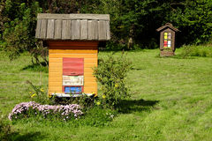 Traditional slovenian beehive. Beekeeping is a traditional agricultural activity in Slovenia Royalty Free Stock Photos