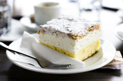 Traditional Slovenian cake Kremna Rezina Royalty Free Stock Images