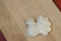 Traditional Slovenian gingerbread heart named LECT. Traditional Slovenian gingerbread heart with Slovenia written on it. Named LECTOV SRČEK in Slovenian Stock Images