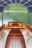 Traditional Slovenian wooden rowing boat Pletna Royalty Free Stock Photos