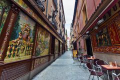Traditional small cafe in Madrid Stock Image