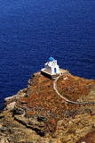 Traditional small chapel on Sifnos island Royalty Free Stock Photos